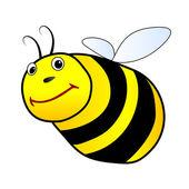 Flying bee illustration — Stock Photo
