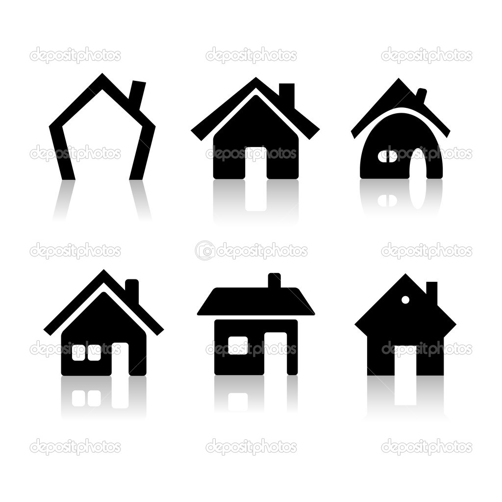 Set of 6 house icon variations — Stock Photo #2045751