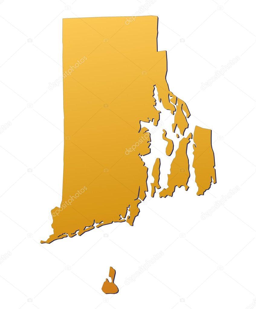 Rhode Island USA Map  Stock Photo  Skvoor - Rhode island in usa map