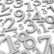 Black and white numbers background — Stock Photo #2097263