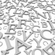 Black and white letters background — Stockfoto