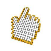 Computer hand cursor — Stock Photo