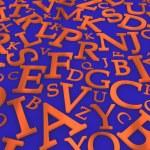 sfondo di lettere — Foto Stock