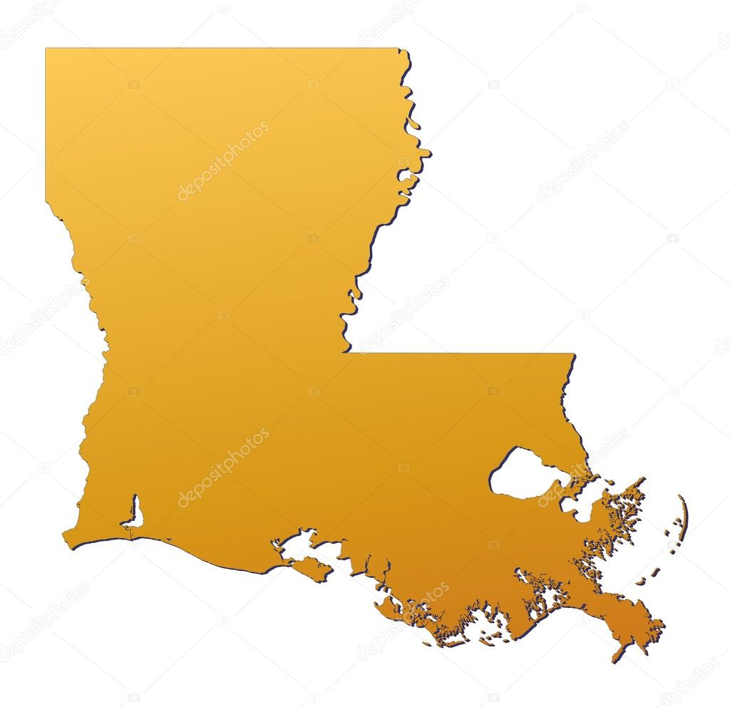 Louisiana USA Map  Stock Photo  Skvoor 2165830