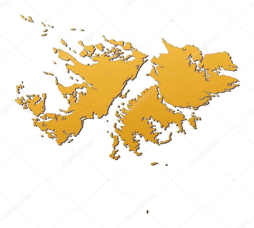 Falkland Islands Map Vector