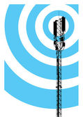 Mobile communication mast — Stock Vector