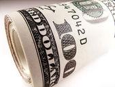 Roll of dollars — Stock Photo