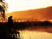 Morning fishing — Stock Photo