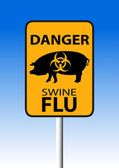 Swine H1N1 flu sign — Stock Vector