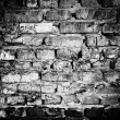 Stock Photo: Black and white brick wall
