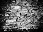 Parede de tijolo preto e branco — Fotografia Stock