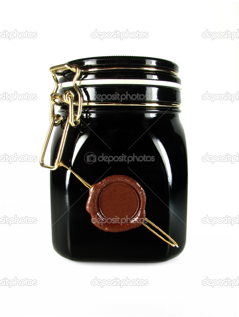 Jar Black Glass 63