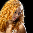 Beautiful girl with golden hair - Foto de Stock  