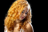 Beautiful girl with golden hair — Stock Photo