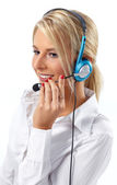 Customer Service Operator-Isolated — Stock Photo