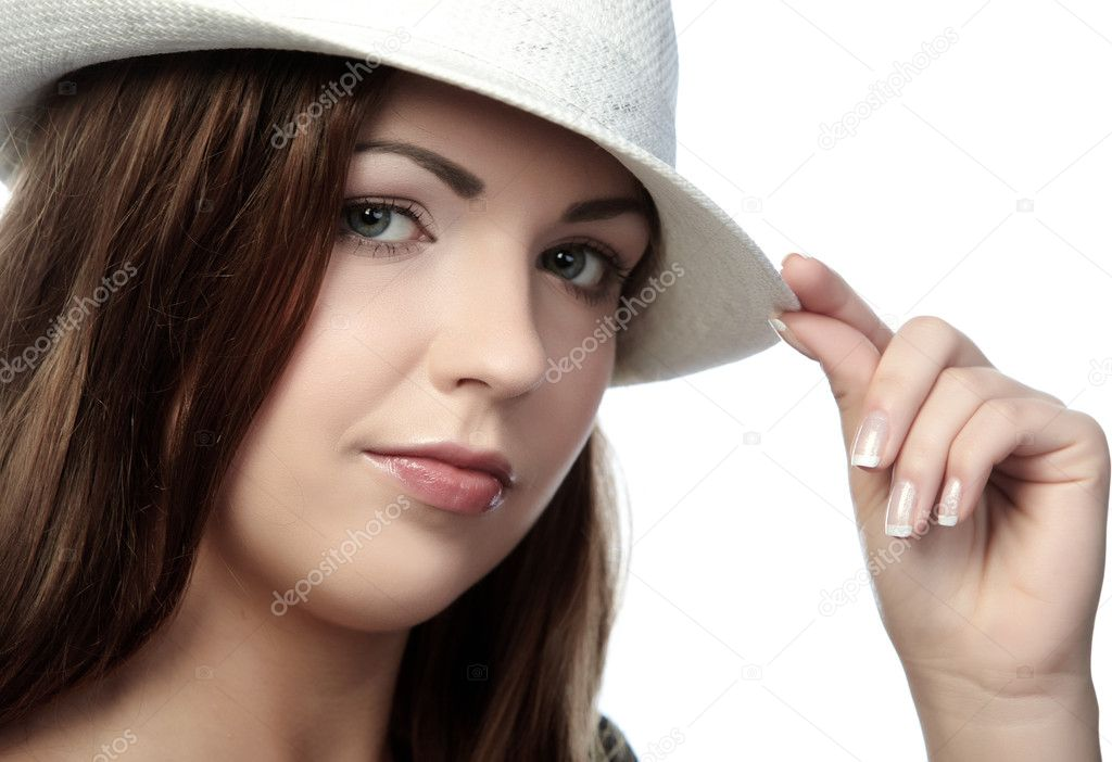 Beautifully woman in hat — Stock Photo #1769554