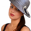 Beautifully woman in hat - Stock Photo