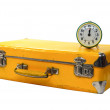Old yellow suitcase — Stock Photo