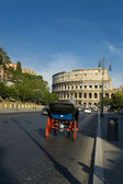 A Carriage near Colosseum in Rome — Stock Photo