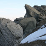 bergets topp — Stockfoto