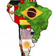 thumbnail of South america political map