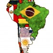 Royalty-Free Stock Photo: South america political map