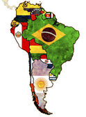 South america political map — Stock Photo