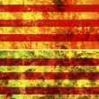 Stock Photo: Old flag of catalonia
