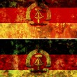 Stock Photo: Old flag of east germany