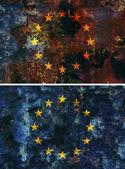 Old flag of european union — Stock Photo