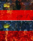 Old flag of liechtenstein — Stock Photo