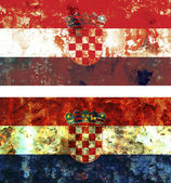 Old flag of croatia — Stock Photo