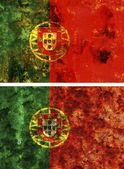 Old flag of portugal — Stock Photo