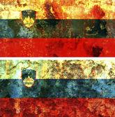 Old flag of slovenia — Stock Photo