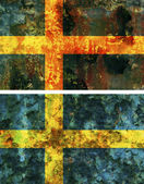 Old flag of sweden — Stock Photo