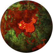 China on earth — Stock Photo