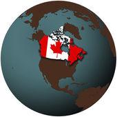 Canada on earth — Stock Photo