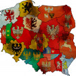 Administration poland map — Stock Photo