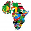 Stock Photo: Africflags