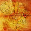 Kenya on africa map — Stock Photo