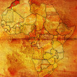 Stock Photo: Morocco on africmap