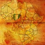 Nigeria on africa map — Stock Photo #1797934