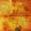 Rsa on africa map — Stock Photo