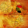 Sudan on africa map — Stock Photo #1798072