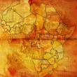 Tunisia on africa map — Stock Photo