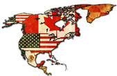 Some very old grunge map of NAFTA — Stock Photo