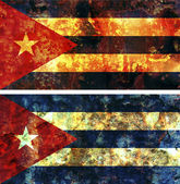 Old flag of cuba — Stock Photo