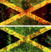 Old flag of jamaica — Stock Photo