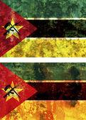 Old flag of mozambique — Fotografia Stock