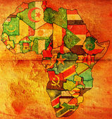 African flags — Stock Photo